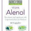 nuIQue Vegan Alenol label