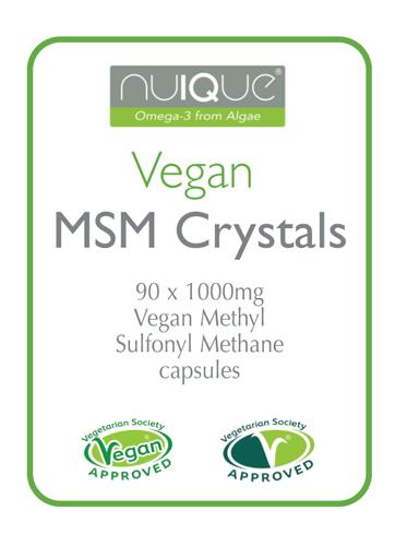 nuIQue Vegan MSM label