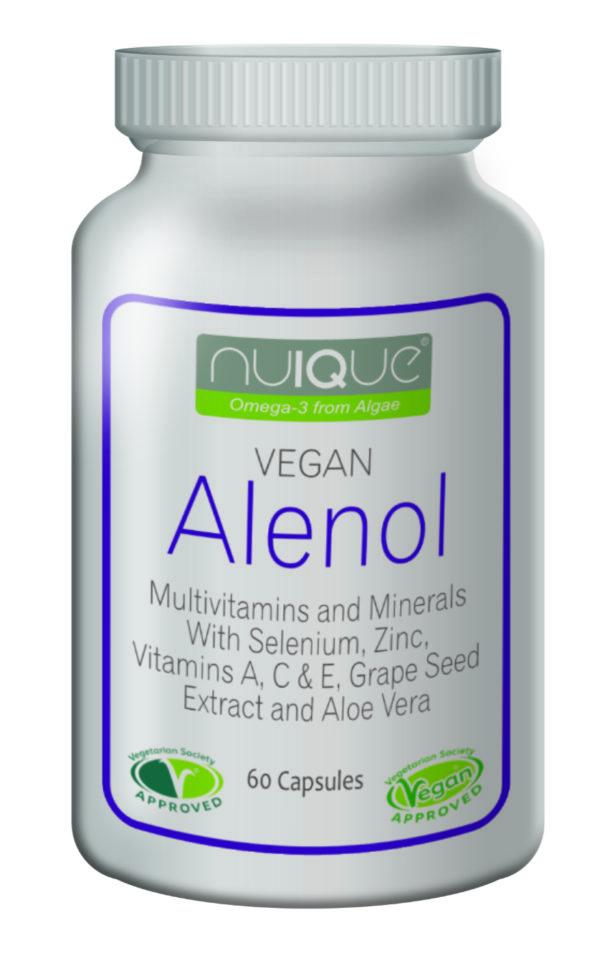 nuIQue Vegan Alenol bottle