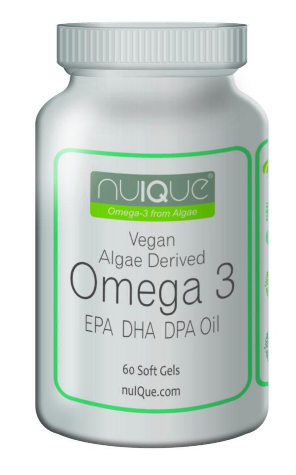 nuIQue Vegan Omega 3 bottle