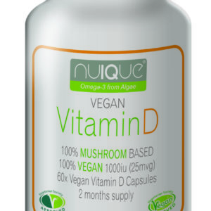 nuIQue Vegan Vitamin D with VitaShroom bottle